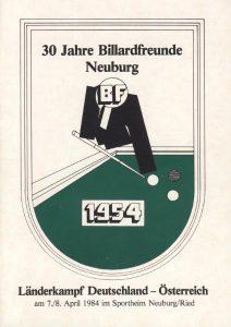 Chronik über 30 Jahre Billardfreunde Neuburg